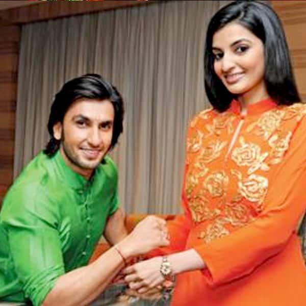 Ranveer Singh celebrating rakhi with sister Ritika Bhavnani