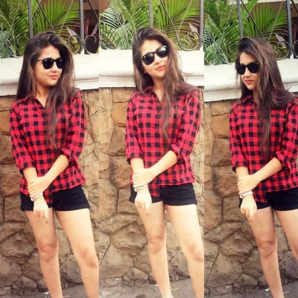 Aditi Bhatia aka 'Ruhi' posing for cameras