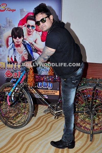 Aamir Khan's look alike during 'Amir, Salman, Shahrukh' movie launch