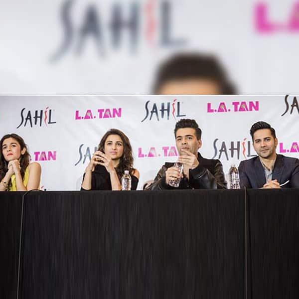 Alia, Karan, Katrina, Varun and Parineeti during press conference