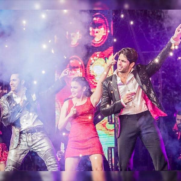 Alia Bhat, Varun Dhawan and Sidharth Malhotra dancing on 'Disco Deewane'
