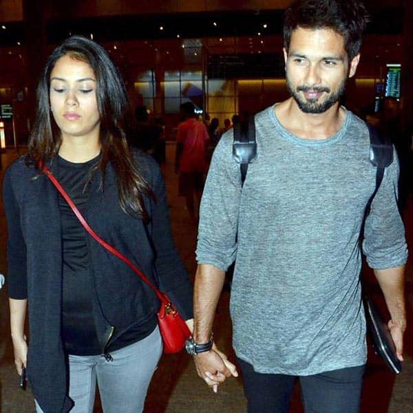 Mira Rajput and Shahid Kapoor snapped at airport