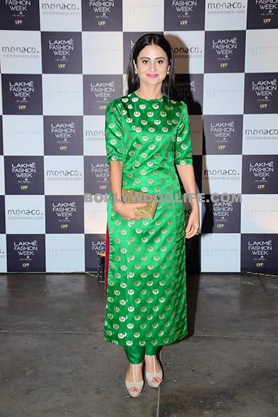 Rasika in Sanjay Garg during day 2 of Lakme Fashion Week