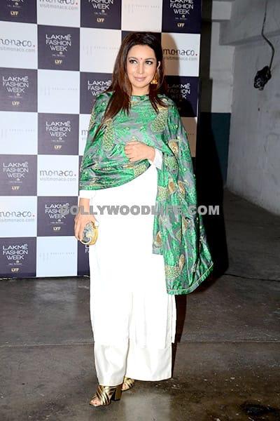 Tisca Chopra in Sanjay Garg during day 2 of Lakme Fashion Week