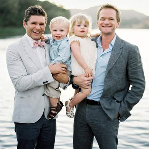 Neil Patrick Haris had twin babies Gideon and Harper via surrogate mother