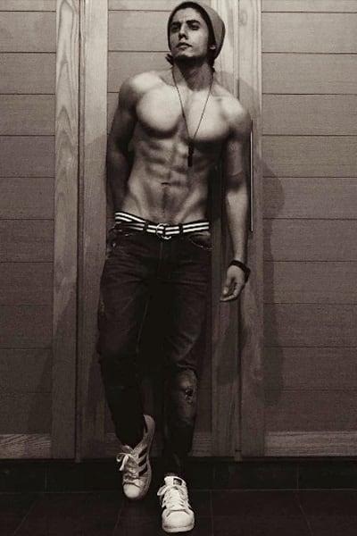 Danyal Zafar's clicked shirtless