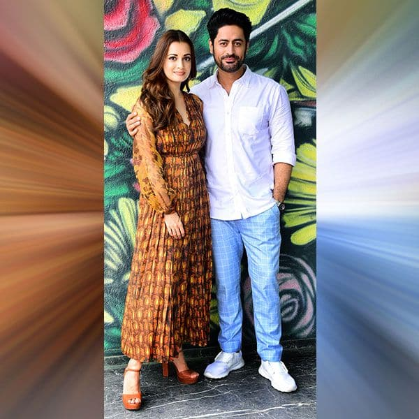 Dia Mirza and Mohit Raina snapped promoting their upcoming web series