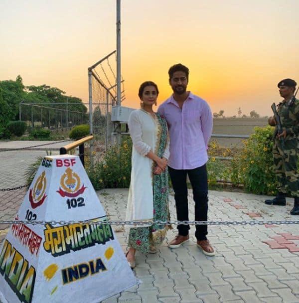Dia Mirza and Mohit Raina promote Kaafir at Wagah border