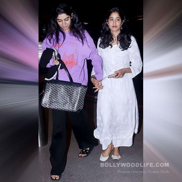 Janhvi Kapoor and Khushi Kapoor were spotted at Mumbai airport