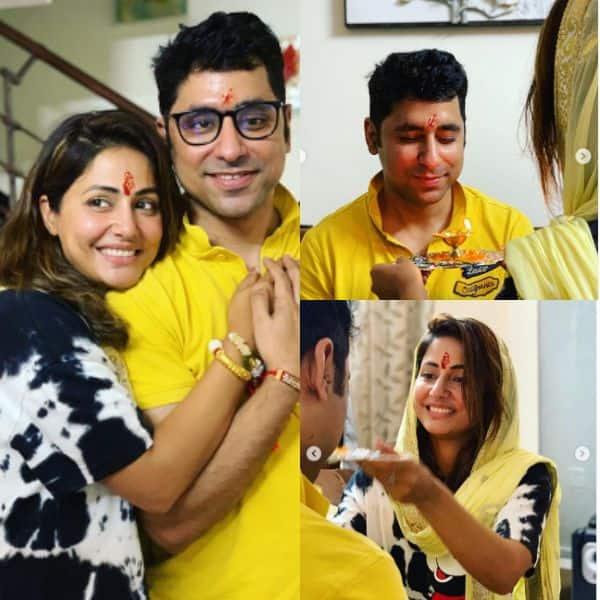 Hina Khan celebrated Rakhi with brother Aamir