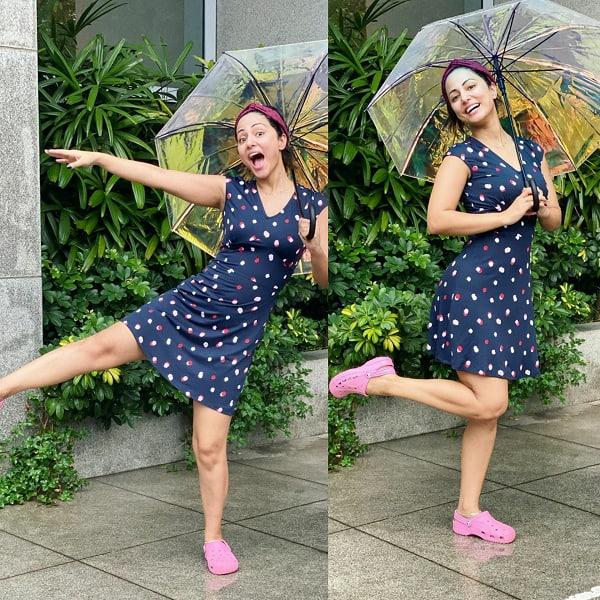 Hina enjoys monsoon