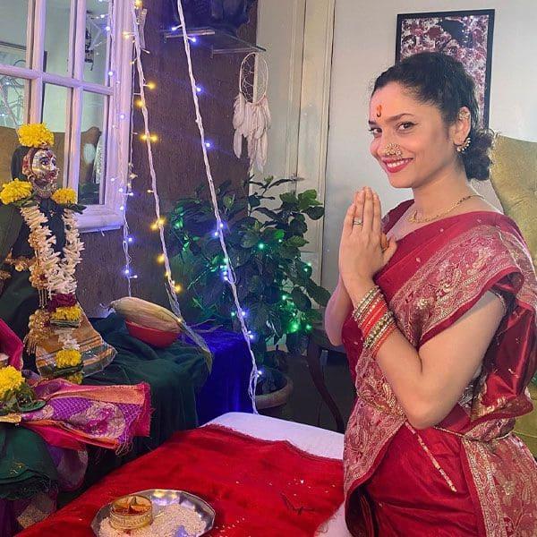 Ankita celebrates Ganpati