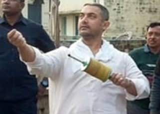 Aamir Khan while celebrating Makar Sakratni