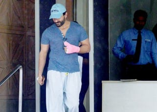Actor Saif Ali is snapped coming out of Kokilaben Hospital in Mumbai