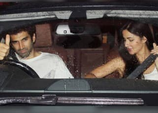 Aditya Roy Kapur and Katrina Kaif were spotted heading for the actor's apartment together