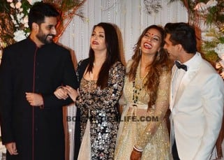 Aishwarya Rai and Abhishek Bachchan clicked at Bipasha Basu's wedding reception