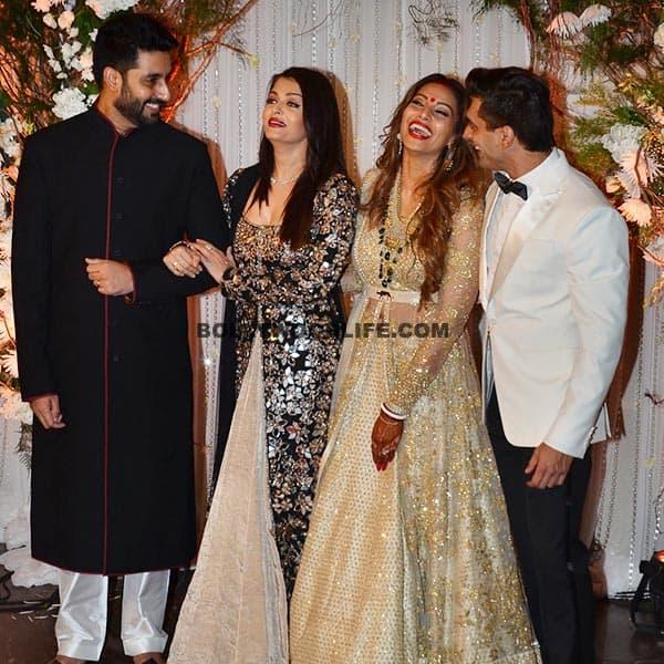 Aishwarya Rai Talking To Newly Wed Bipasha Basu And Karan Singh