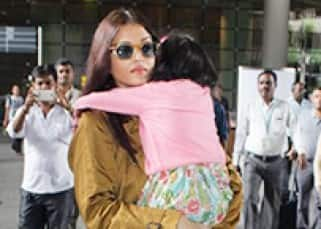 Aishwarya Rai Bachchan is back with daughter Aradhya from their London vacation!