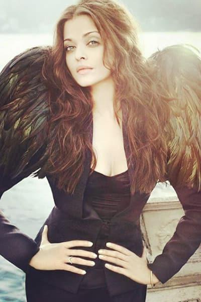 Aishwarya Rai Bachchan snapped during a shoot