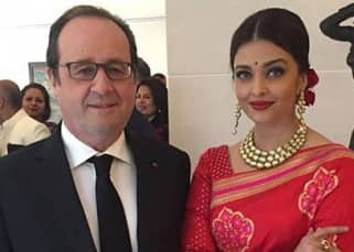 Aishwarya Rai looks exquisite in red Banarasi saree for meeting French President