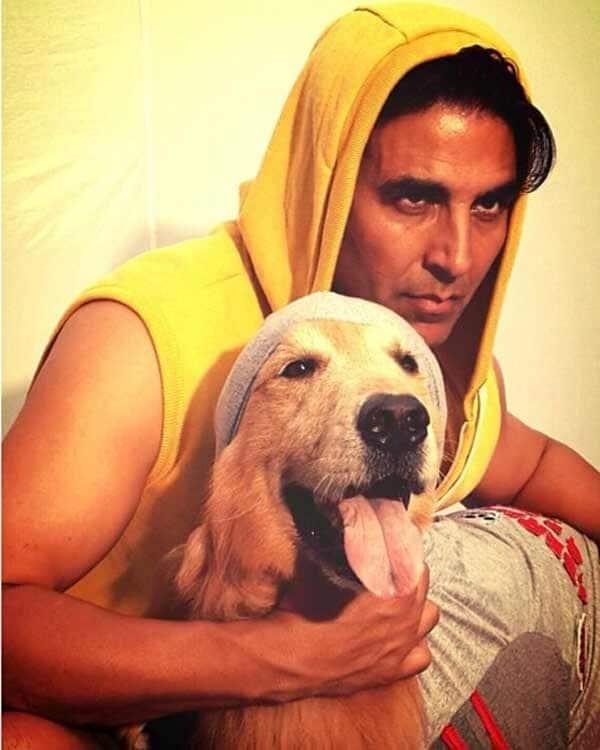 Akshay Kumar's puppy love!