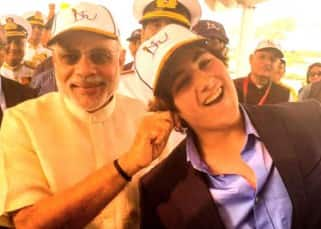 Akshay Kumar's son Aarav meets PM Modi at International Fleet Review