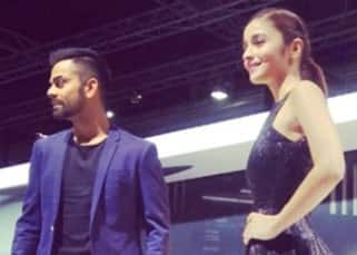 Alia Bhatt clicked with Virat Kohli at Audi R8 launch