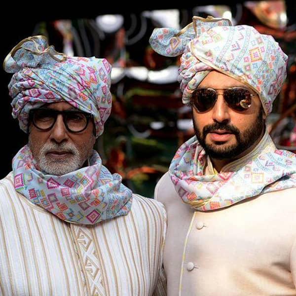 Amitabh Bachchan and Abhishek twin for the wedding ceremony