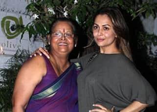 Amrita Arora with mother Joyce Polycarp at Olive Bar and Restaurant