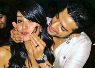 Anita Hassanandani with Karan Patel during her birthday bash