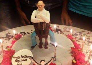 Anupam Kher's 61st birthday cake