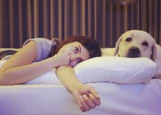 Anushka Sharma with her pet