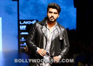 Arjun Kapoor clicked during Sahil Aneja's show