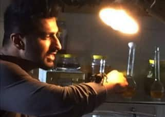 Arjun Kapoor playing with a tarantula during 'Khatron Ke Khiladi' season 7 shoot
