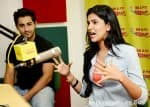 Armaan Jain and Deeksha Seth promote Lekar Hum Deewana Dil at a radio show