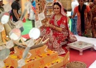 'Balika Vadhu' actress Roop Durgapal snapped during wedding ceremonies