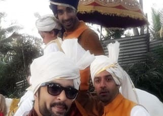 Barun Sobti and Raquesh's selfie with Mohit Sehgal