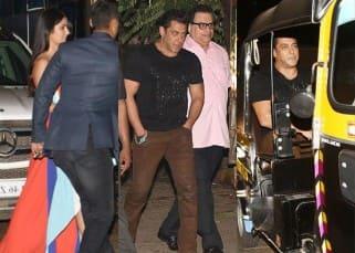 Check out how Salman Khan guides his tigress Katrina Kaif to her car before hopping into a rick himself – photos