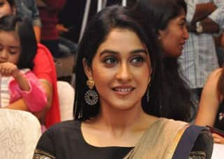 Check out pics of Regina Cassandra in this beautiful dhoti-cum-sari dress!