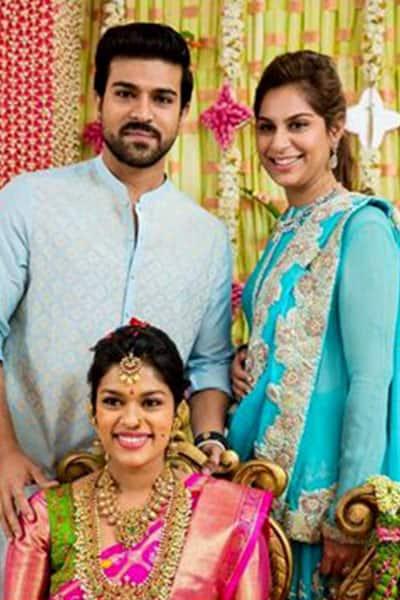 Chiranjeevi's daughter Srija and son Ram Charan