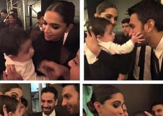 Deepika Padukone and Ranveer Singh clicked with baby her BFF's wedding
