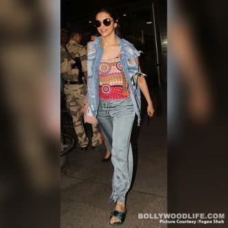 Deepika Padukone commits another fashion faux pas with her latest airport look – view pics