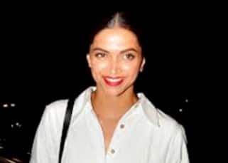 Deepika Padukone looks excited at the Mumbai airport