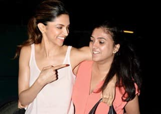 Deepika Padukone strikes a pose with friend outside Mehboob studio