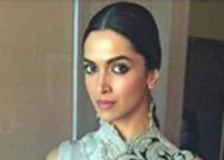 Deepika Padukone with hair tied in braid