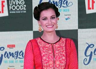 Dia Mirza clicked at the launch of TV show Ganga