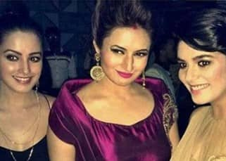 Divyanka snapped with Pooja Gaur and Anita Hassanandani