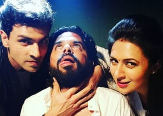 Divyanka Tripathi and Vivek Dahiya pose with Raj Singh Arora