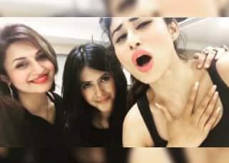 Divyanka Tripathi with Mouni Roy and Ekta Kapoor