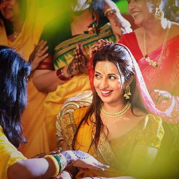 Inside Pictures Of Actress Divyanka Tripathi S Haldi And Mehendi Ceremony Divyanka Tripathi